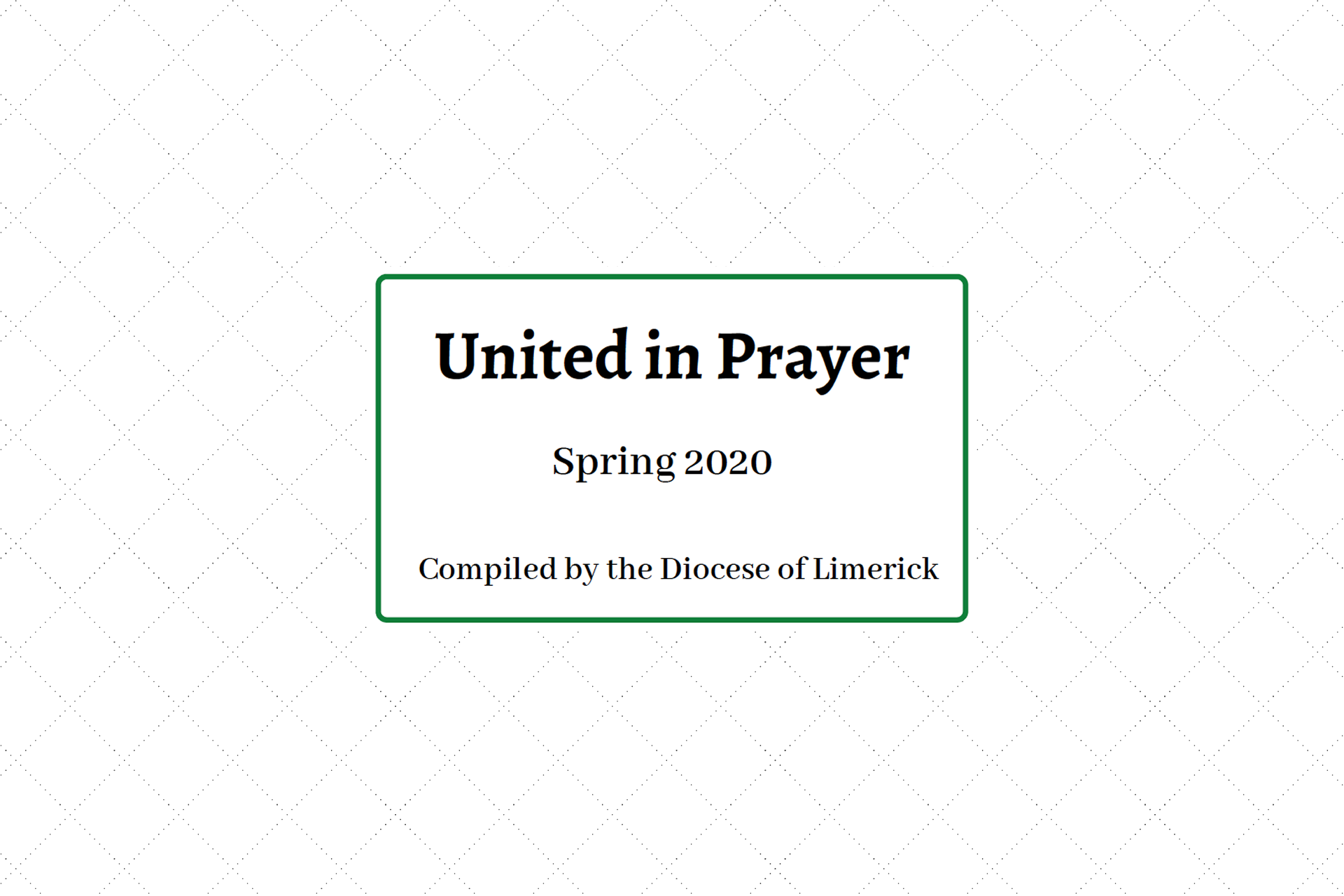 United in Prayer - A Booklet of Prayers