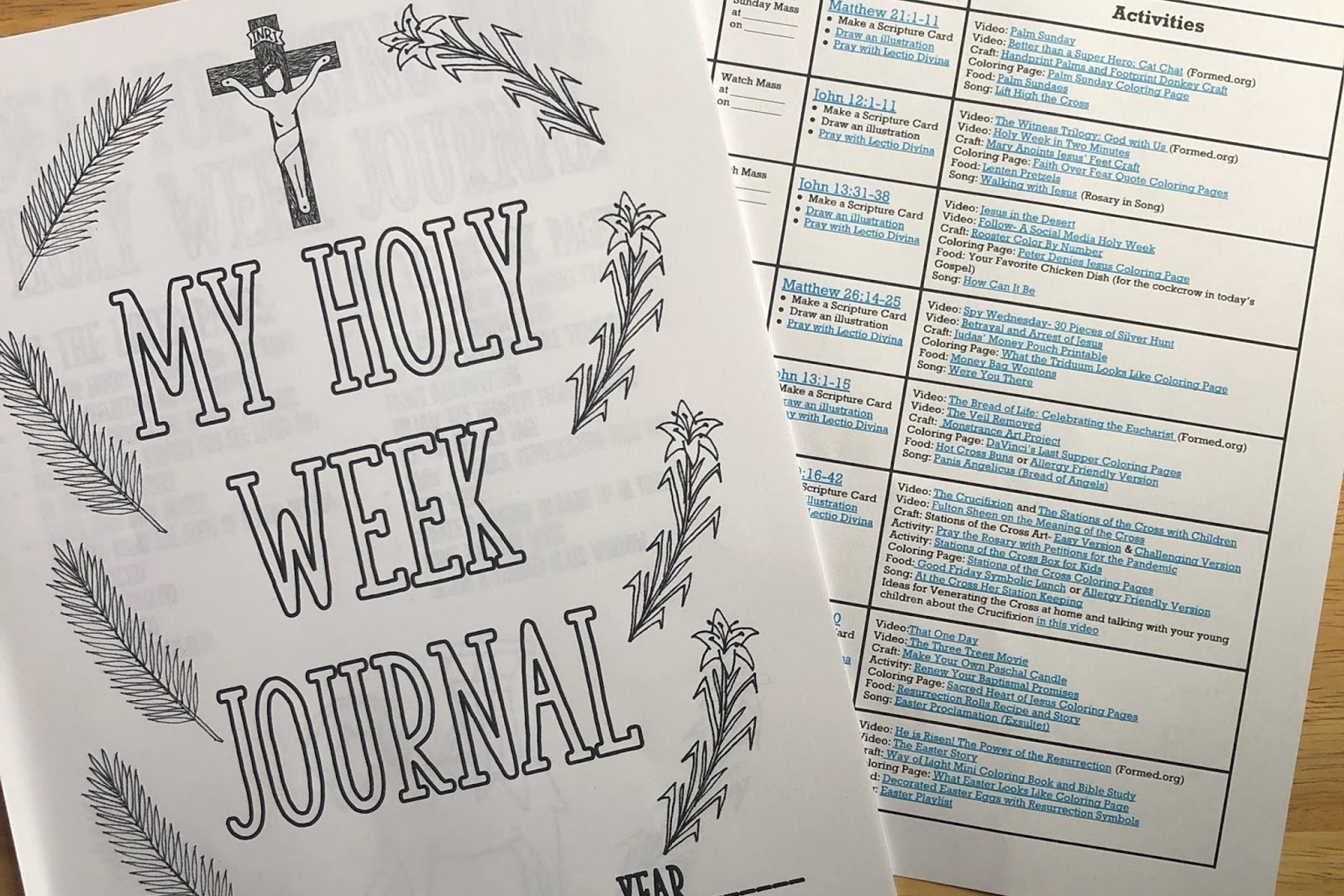 Holy Week (at Home) Timetable and Resources